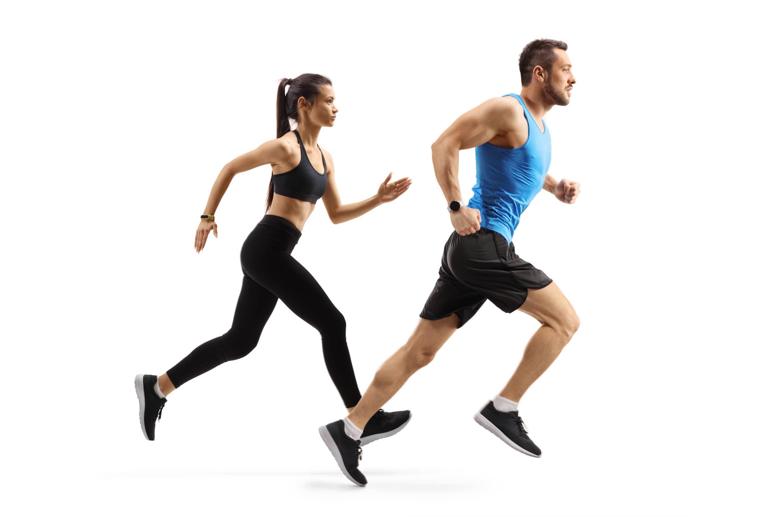 Couple running homepage