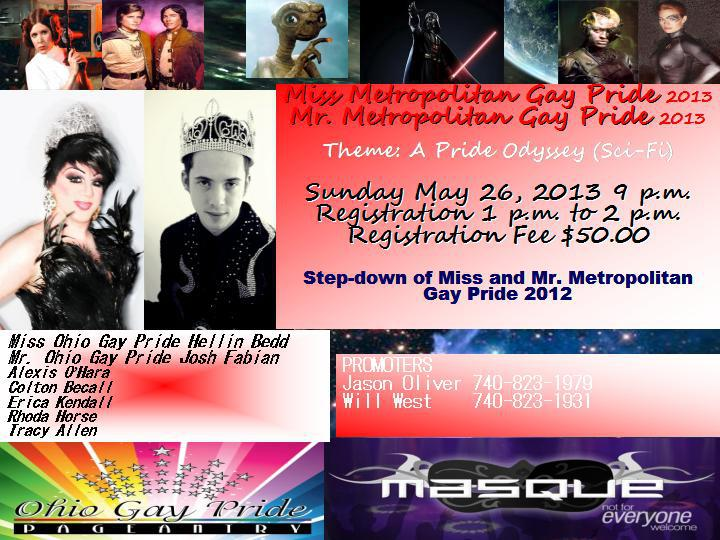 Mr. and Miss Metropolitan Gay Pride   Masque Night Club (Dayton, Ohio)   5/26/2013