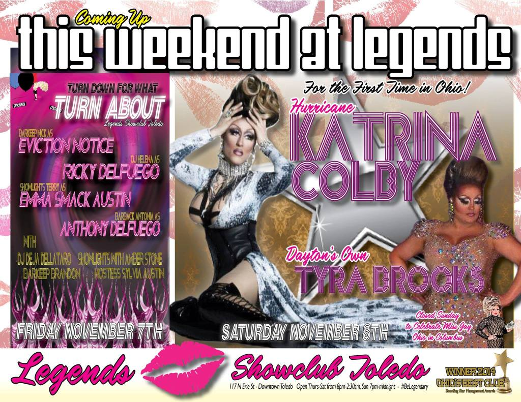 Show Ad   Legends (Toledo, Ohio)   11/7/2014 and 11/18/2014