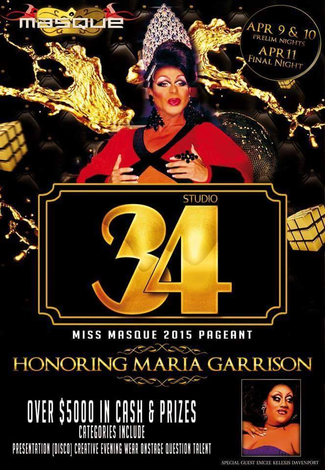 Show Ad   Masque Night Club (Dayton, Ohio)   April 9-11 2015