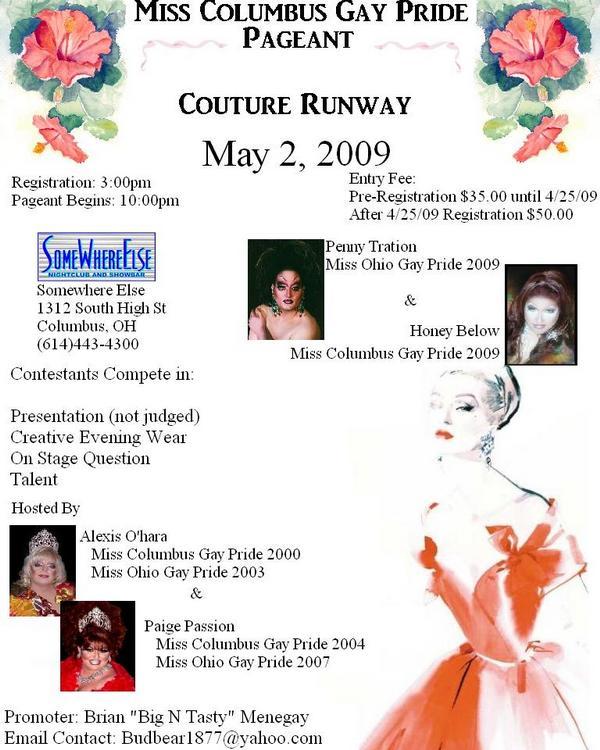 Show Ad | Somewhere Else Nightclub and Show Bar (Columbus, Ohio) | 5/2/2009