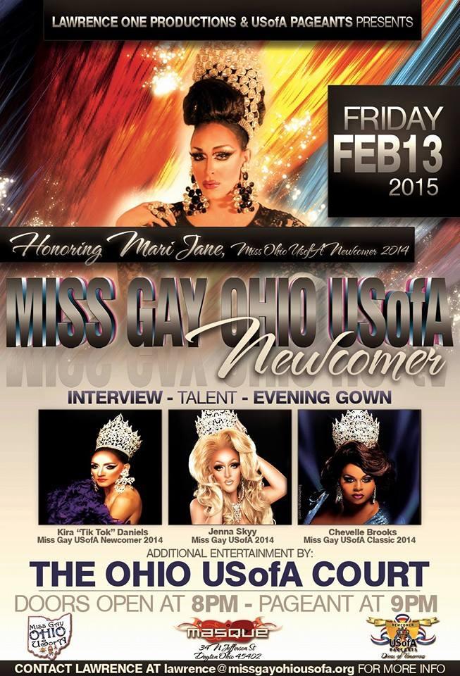 Show Ad   Miss Gay Ohio USofA Newcomer   Masque Night Club (Dayton, Ohio)   2/13/2015
