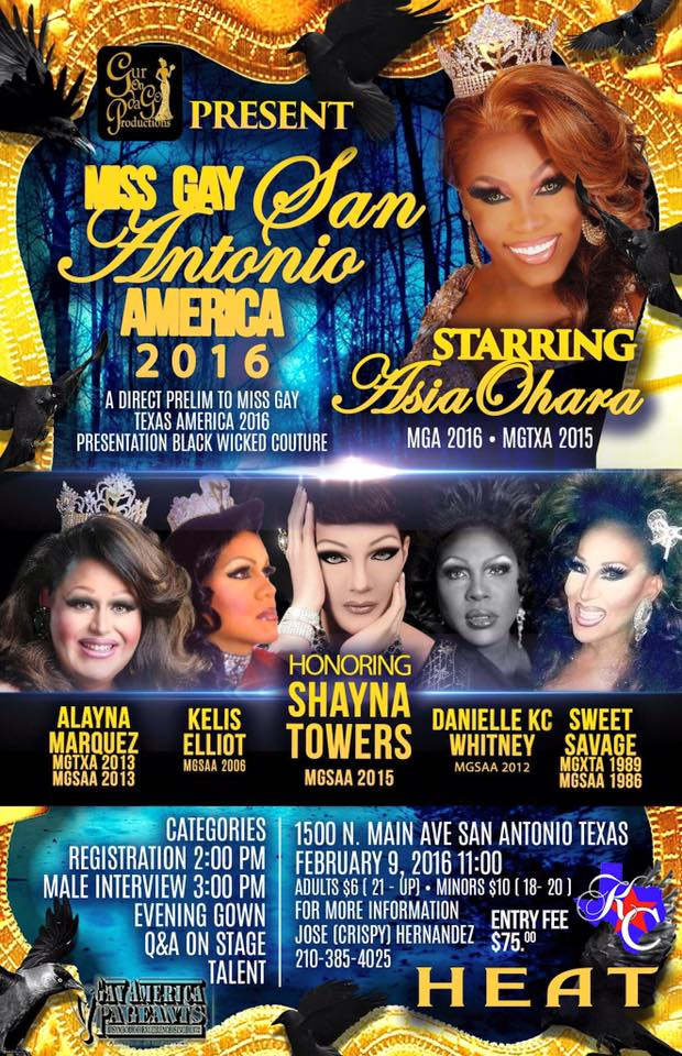 Show Ad   Miss Gay San Antonio America   Heat (San Antonio, Texas)   2/9/2016