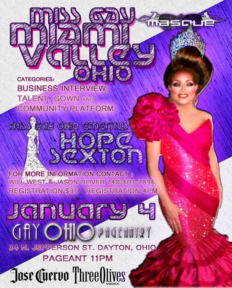 Show Ad   Miss Miami Valley Ohio   Masque (Dayton, Ohio)   1/4/2015