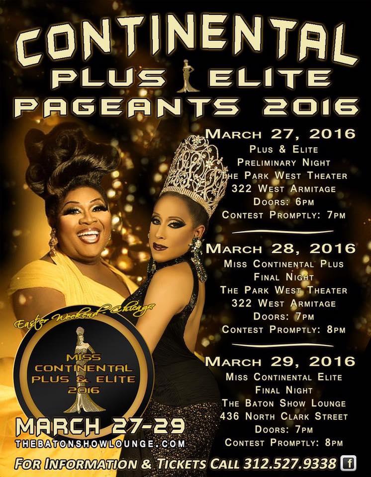 Show Ad   Miss Continental Plus and Elite   Baton Show Lounge (Chicago, Illinois)   3/27-3/29/2016