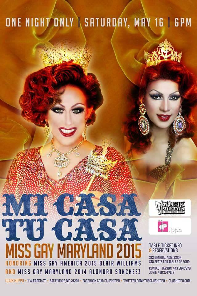 Show Ad   Miss Gay Maryland America   Club Hippo (Baltimore, Maryland)   5/16/2015