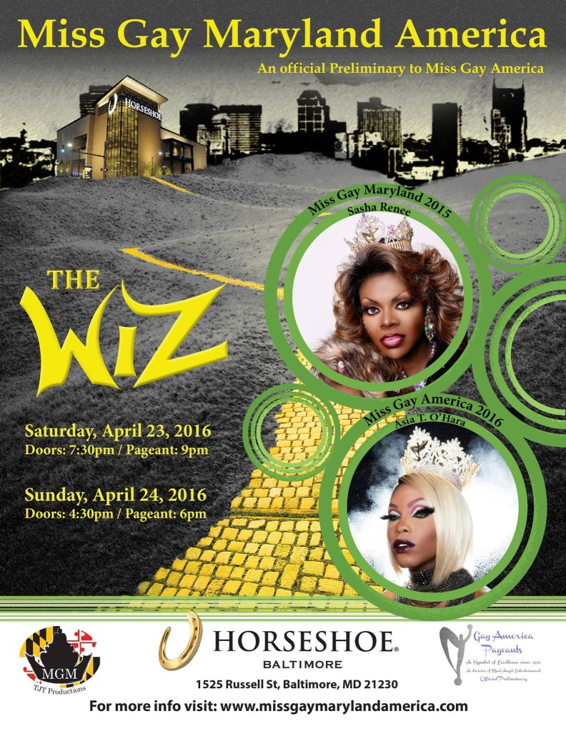 Show Ad   Miss Gay Maryland America   Horseshoe (Baltimore, Maryland)   4/23-4/24/2016