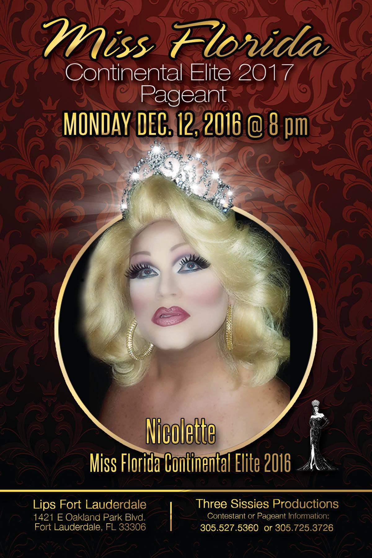 Show Ad   Miss Florida Continental Elite   Lips Fort Lauderdale (Fort Lauderdale, Florida)   12/12/2016