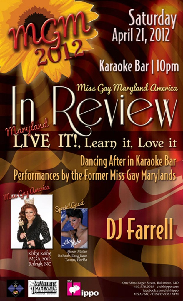 Show Ad   Miss Gay Maryland America   Club Hippo (Baltimore, Maryland)   4/21/2012