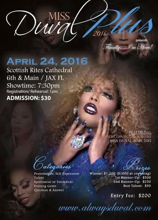 Show Ad | Miss Duval Plus | Scottish Rites Cathedral (Jacksonville, Florida) | 4/24/2016