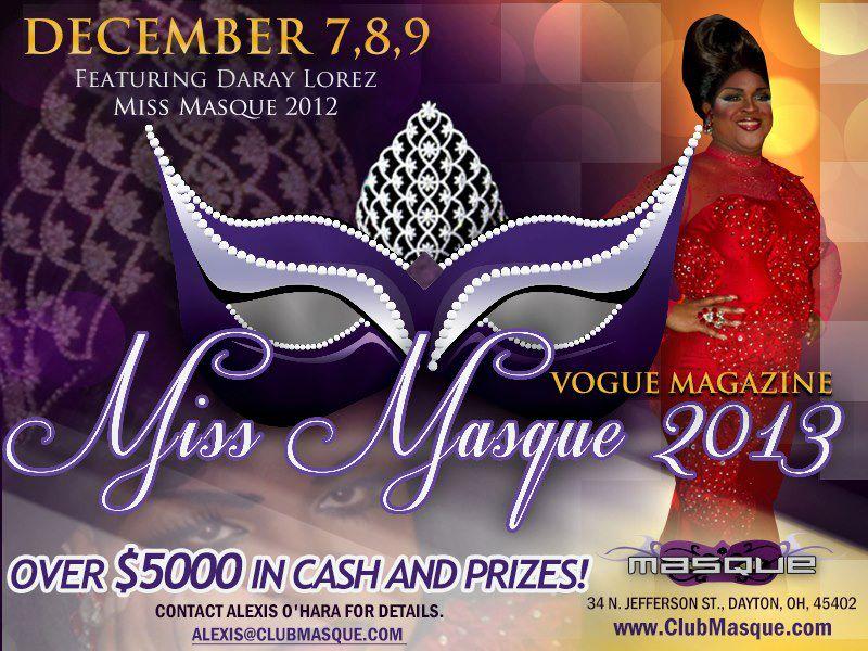 Show Ad   Miss Masque   Masque (Dayton, Ohio)   12/7-12/9/2012
