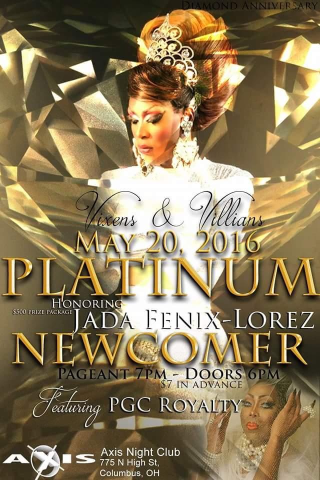 Show Ad | Miss Platinum Gem City Newcomer | Axis Night Club (Columbus, Ohio) | 5/20/2016
