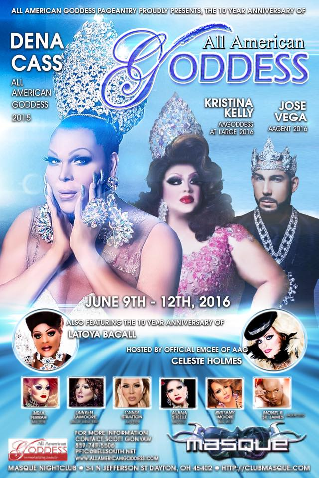Show Ad | All American Goddess | Masque (Dayton, Ohio) | 6/9-6/12/2016