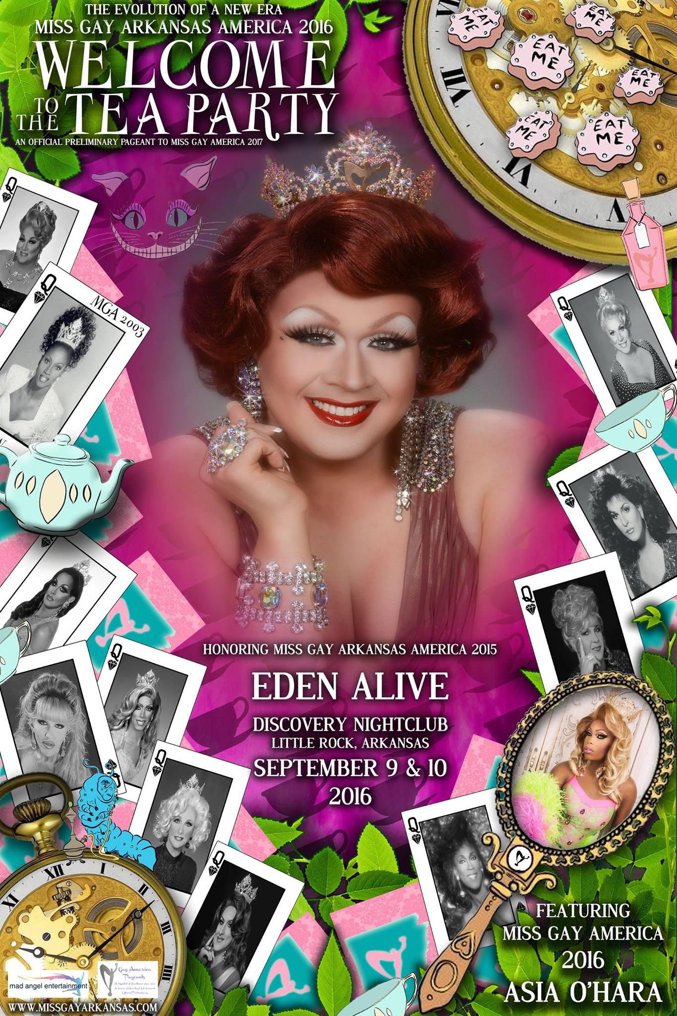 Show Ad | Miss Gay Arkansas America | Discovery Nightclub (Little Rock, Arkansas) | 9/9-9/10/2016