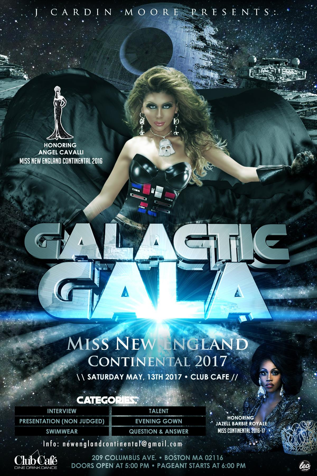 Show Ad | Miss New England Continental | Club Cafe (Boston, Massachusetts) | 5/13/2017