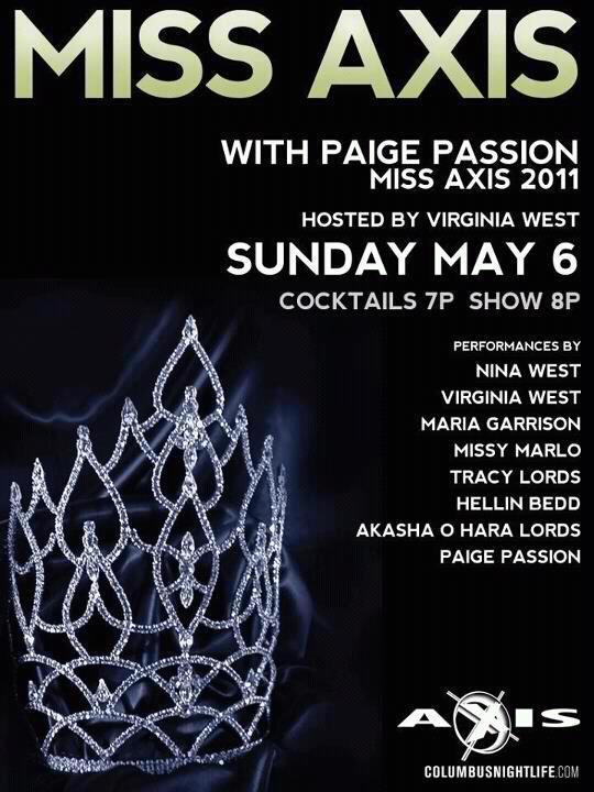 Show Ad   Miss Axis   Axis Night Club (Columbus, Ohio)   5/6/2012