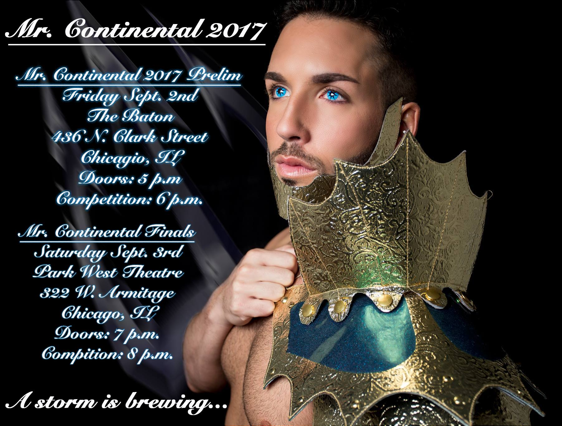 Show Ad | Mr. Continental | The Baton and Park West Theatre (Chicago, Illinois) | 9/2-9/3/2016