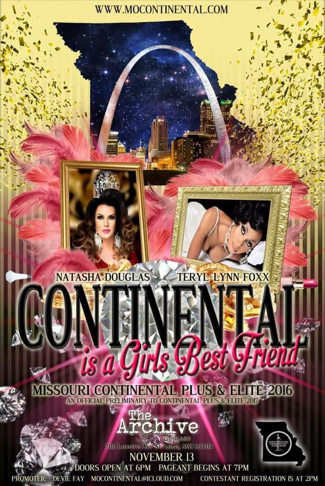 Show Ad   Miss Missouri Continental Elite and Plus   The Archive Soulard (St. Louis, Missouri)   11/13/2016