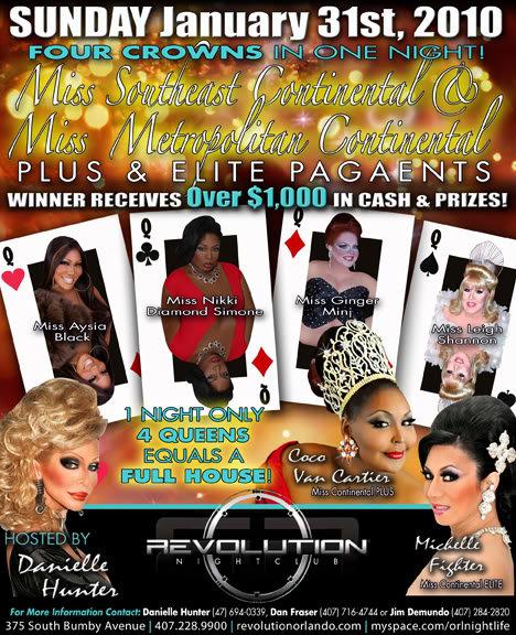 Show Ad   Miss Southeast and Metropolitan Continental Pluse & Elite   Revolution Night Club (Orlando, Florida)   1/31/2010