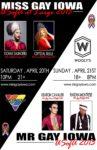 Show Ad   Miss Gay Iowa USofa at Large and Mr. Gay Iowa USofA   4/20-4/21/2013