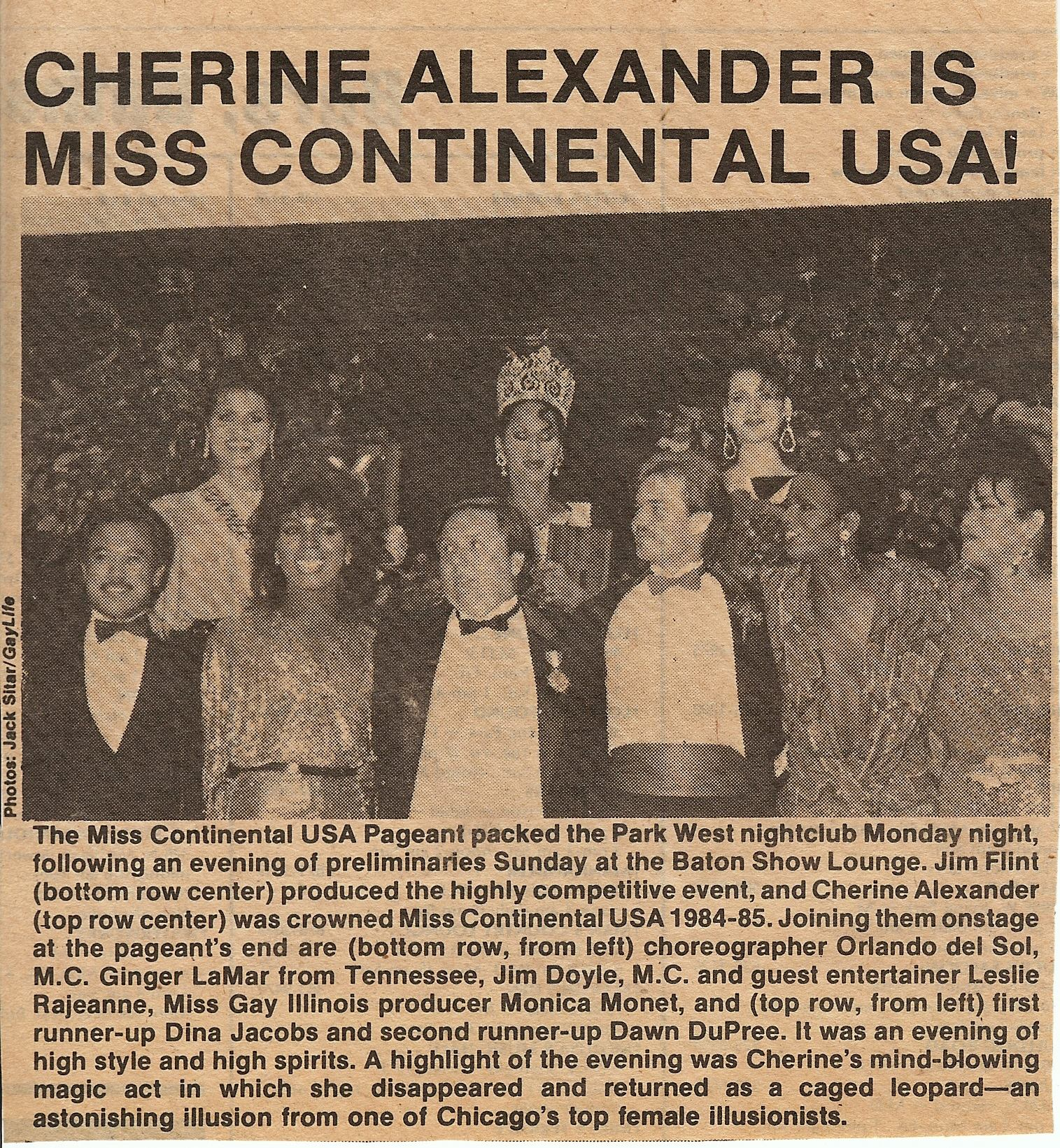 Cherine Alexander Is Miss Continental USA