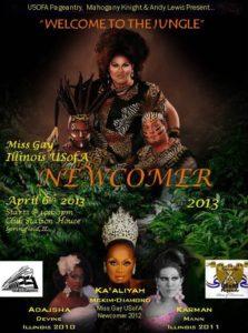 Show Ad   Miss Gay Illinois USofA Newcomer   Club Station House (Springfield, Illinois)   4/6/2013
