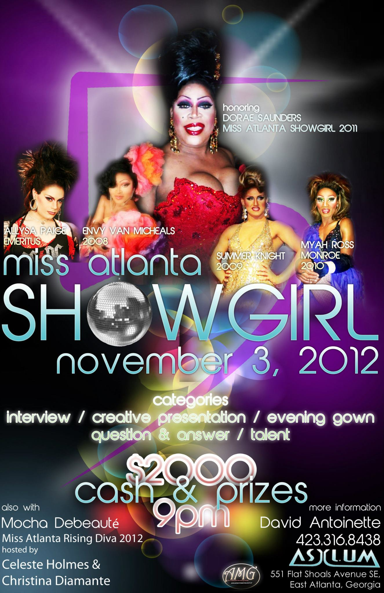 Show Ad | Miss Atlanta Showgirl | Asylum (East Atlanta, Georgia) | 11/3/2012