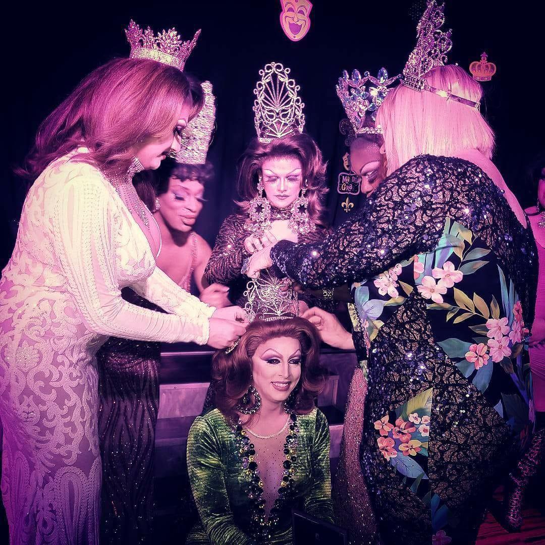 Vena Cava being crowned Miss North Carolina Mardis Gras 2018 at Chemistry Nightclub in Greensboro, North Carolina.