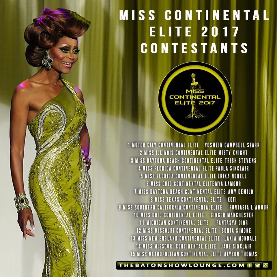 Miss Continental Elite 2017 Contestants