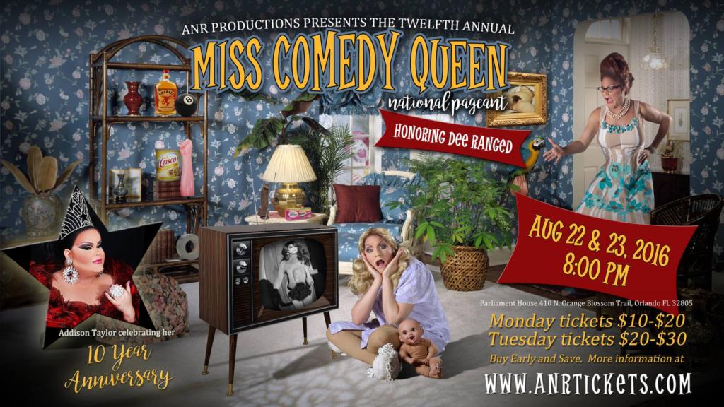 Show Ad | National Miss Comedy Queen | Parliament House (Orlando, Florida) | 8/22 - 8/23/2016