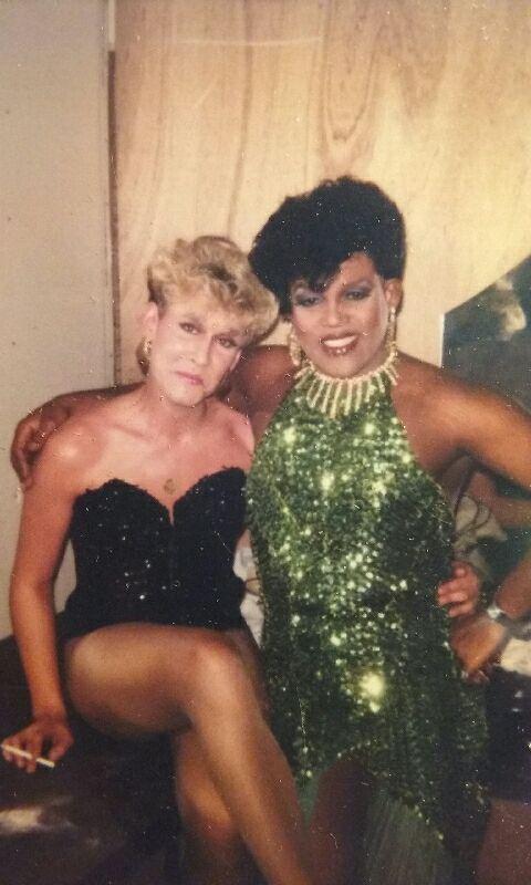 Jonda St. John and Georgia Jackson. Circa 1982.