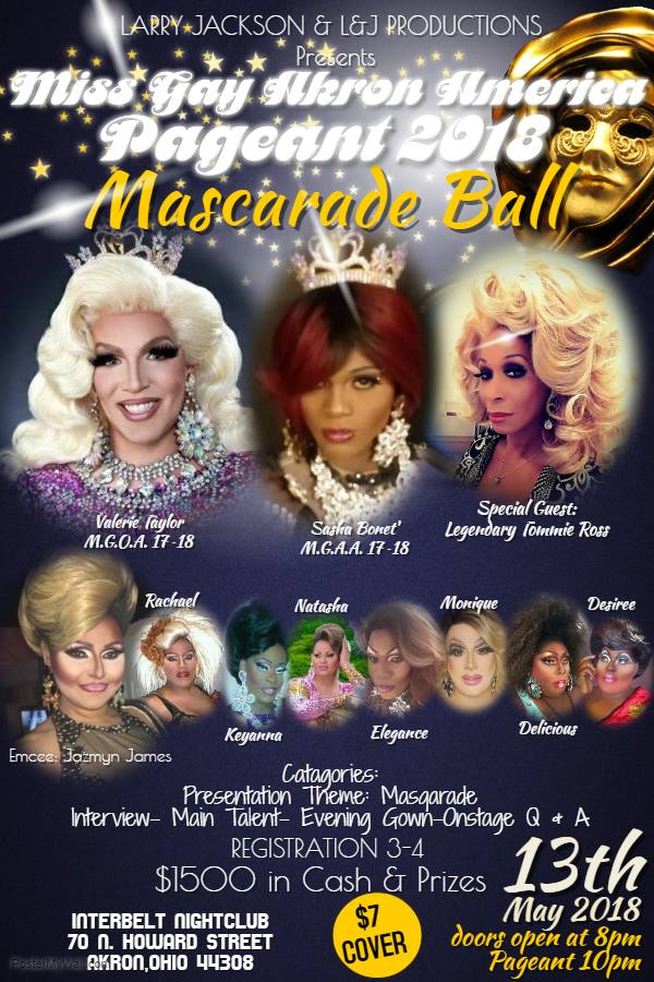 Show Ad | Miss Gay Akron America | Interbelt Nite Club (Akron, Ohio) | 5/13/2018