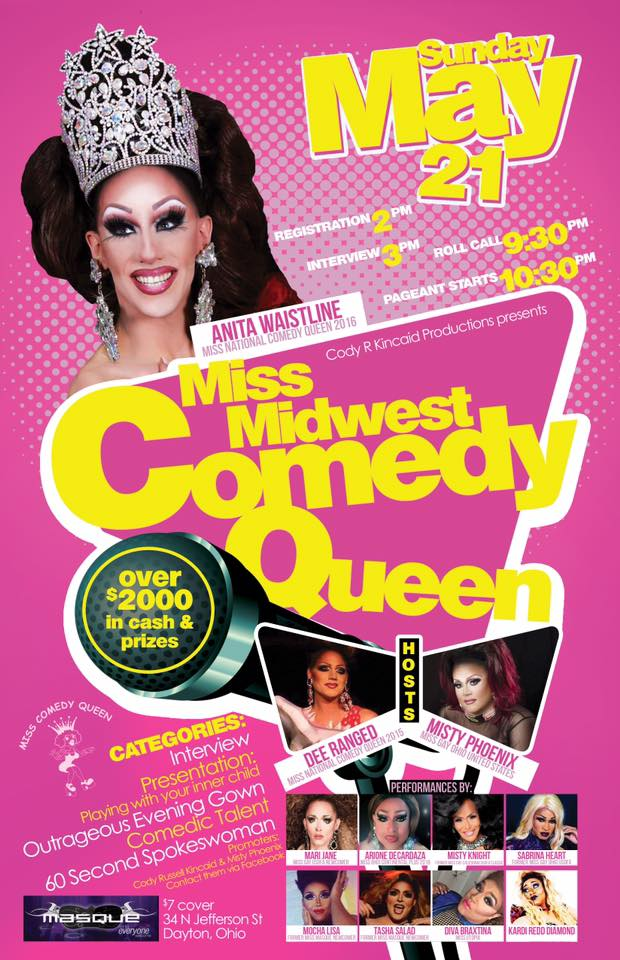 Show Ad   Miss Midwest Comedy Queen   Masque Night Club (Dayton, Ohio)   5/21/2017