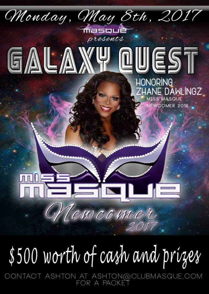 Show Ad   Miss Masque Newcomer   Masque Night Club (Dayton, Ohio)   5/8/2017