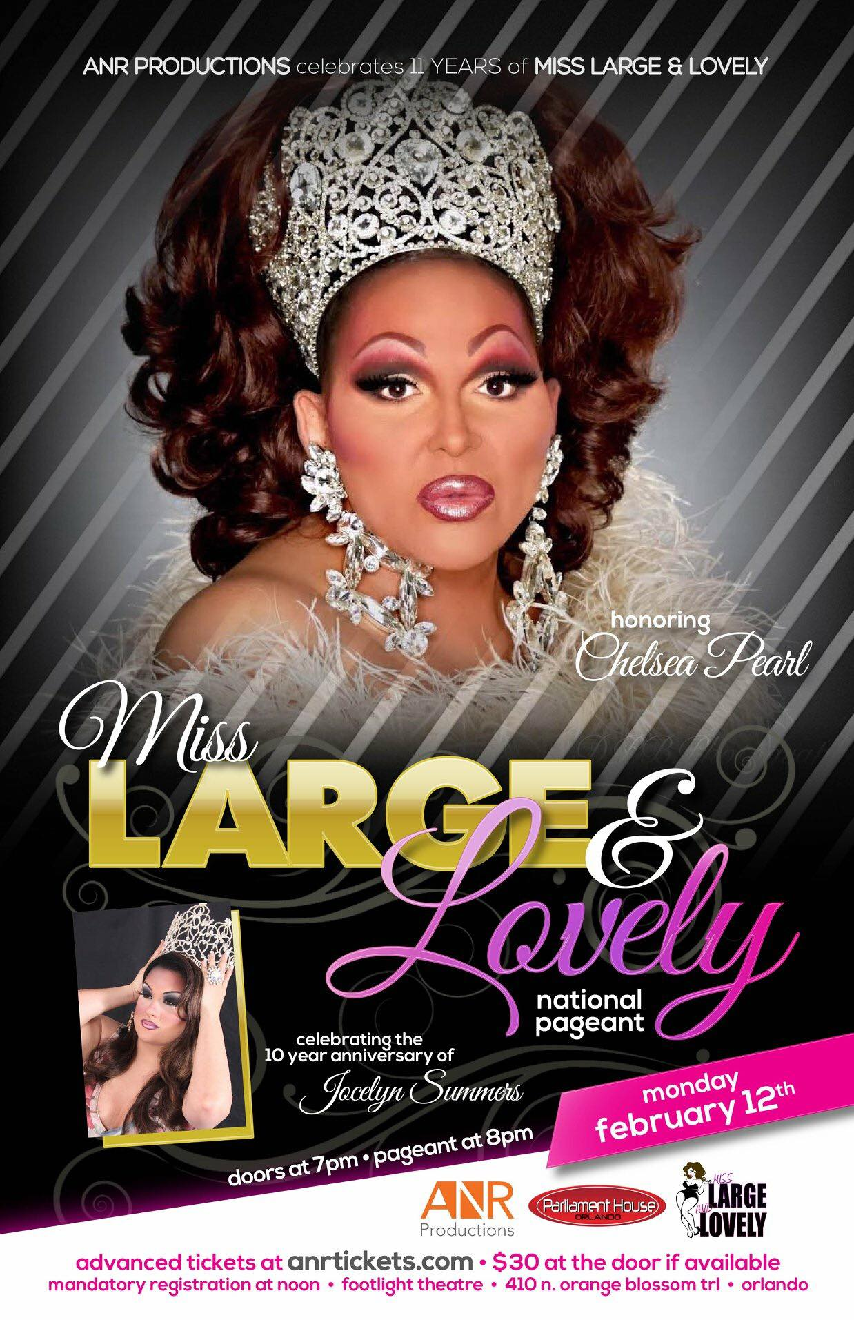 Show Ad | Miss Large and Lovely | Parliament House (Orlando, Florida) | 2/12/2018