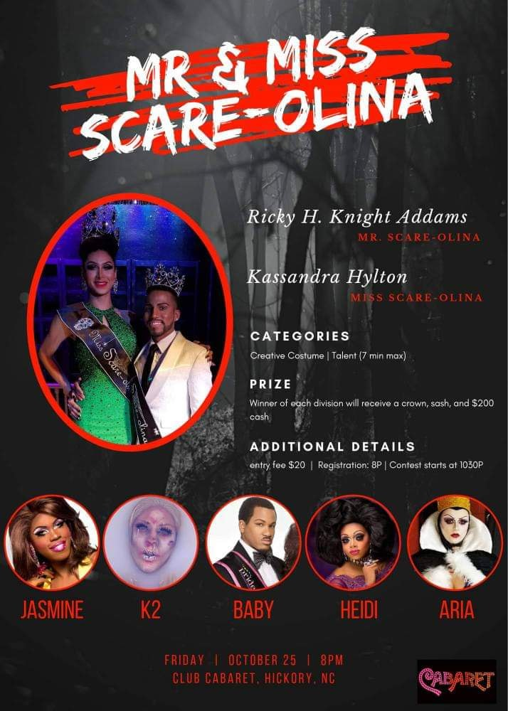 Ad | Mr. and Miss Scare-olina | 10/25/2019