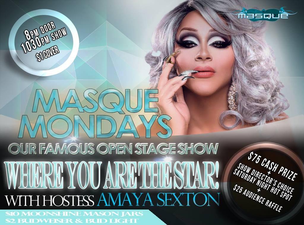 Show Ad   Masque Mondays   Our Famous Open Stage Show   Masque (Dayton, Ohio)   11/20/2017