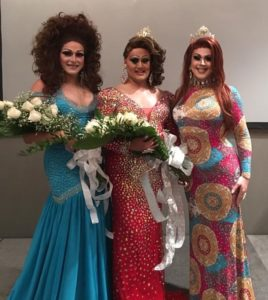 Hannah Rae Reality (1st Alternate to Miss Gay Fort Smith America 2016), Dakota Cummingz (Miss Gay Fort Smith America 2016) and Eden Alive (Miss Gay Arkansas America 2015) at the Miss Gay Fort Worth America contest at Starlight Movie Lounge in Fort Smith, Arkansas on the night of August 7th, 2016.