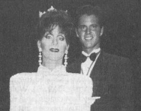 Moments after his coronation, Miss Gay America 1995 Ramona LeGer is congratulated by Mr. Gay All-American 1995 John Reny.
