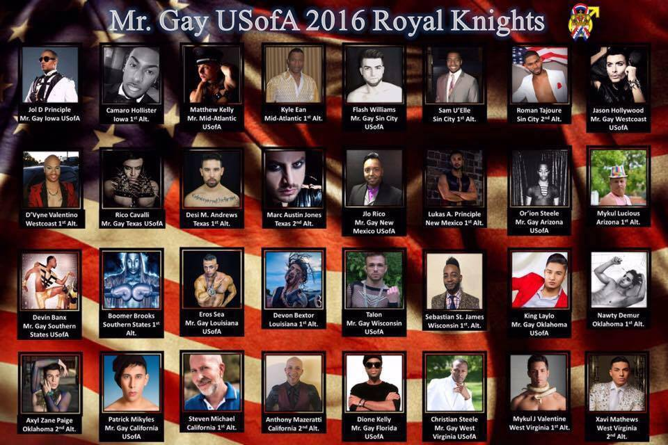 Mr. Gay USofA 2016 Qualified Contestants
