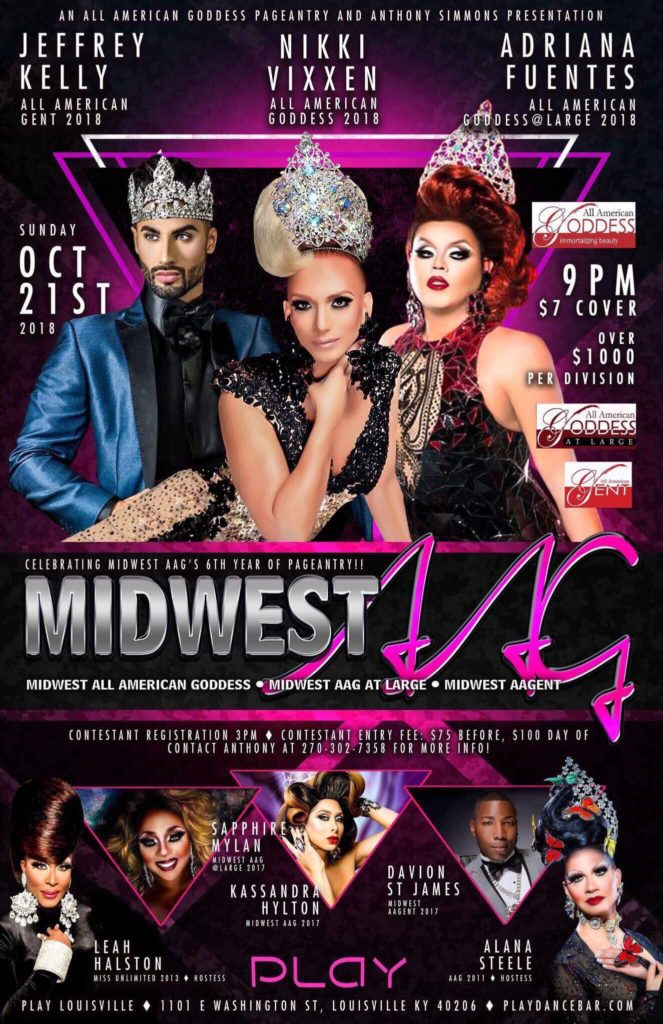 Ad   Midwest All American Gent, Goddess and Goddess at Large   Play (Louisville, Kentucky)   10/21/2018