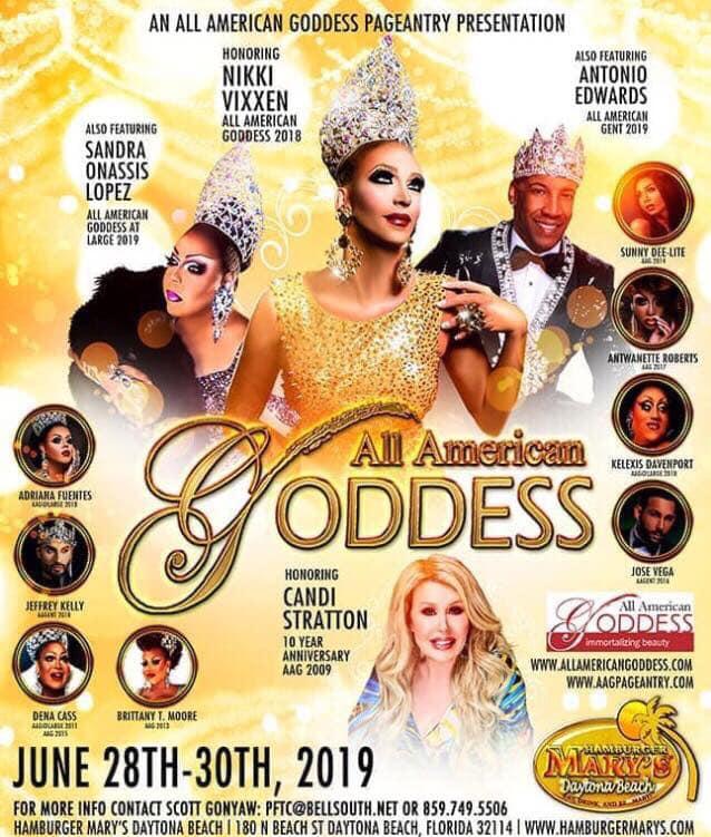 Ad | All American Goddess | Hamburger Mary's (Daytona Beach, Florida) | 6/28-6/30/2019