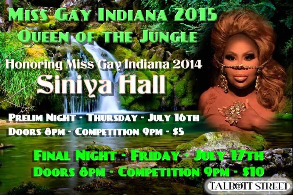 Ad | Miss Gay Indiana | Talbott Street (Indianapolis, Indiana) | 7/16-7/17/2015