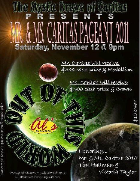Ad   Mr. and Miss Caritas   Al's on Seventh (Birmingham, Alabama)   11/12/2011