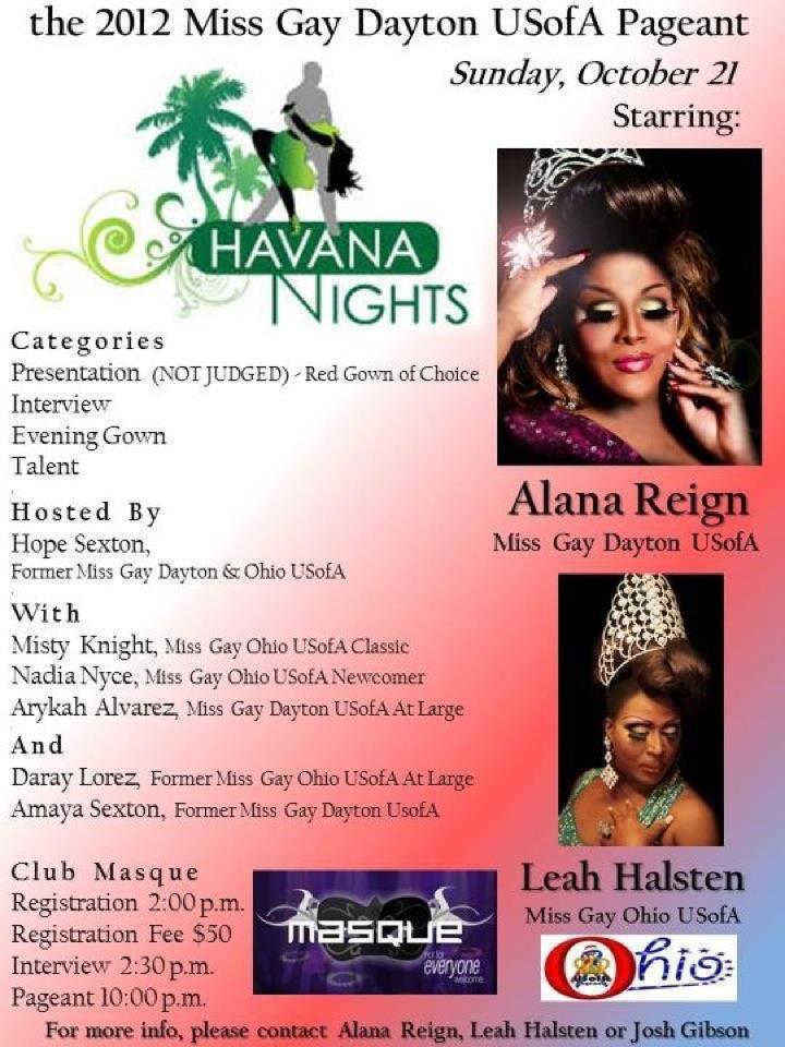 Ad | Miss Gay Dayton USofA | Masque (Dayton, Ohio) | 10/21/2012