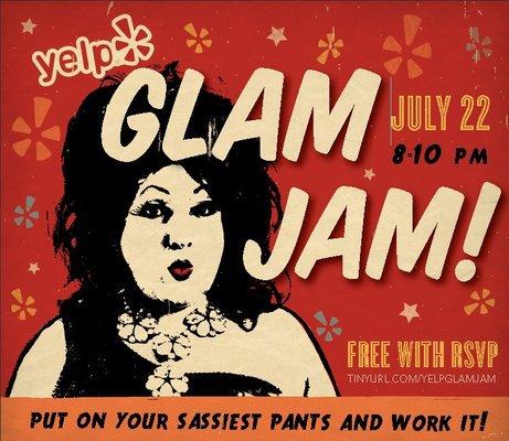 Ad   Yelp's Glam Jam   COSI (Columbus, Ohio)   7/22/2011