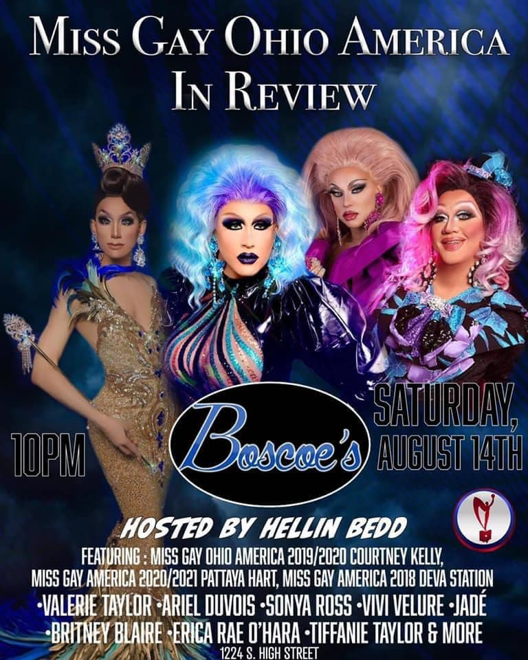 Ad | Miss Gay Ohio America Review Show | Boscoe's (Columbus, Ohio) | 8/14/2021