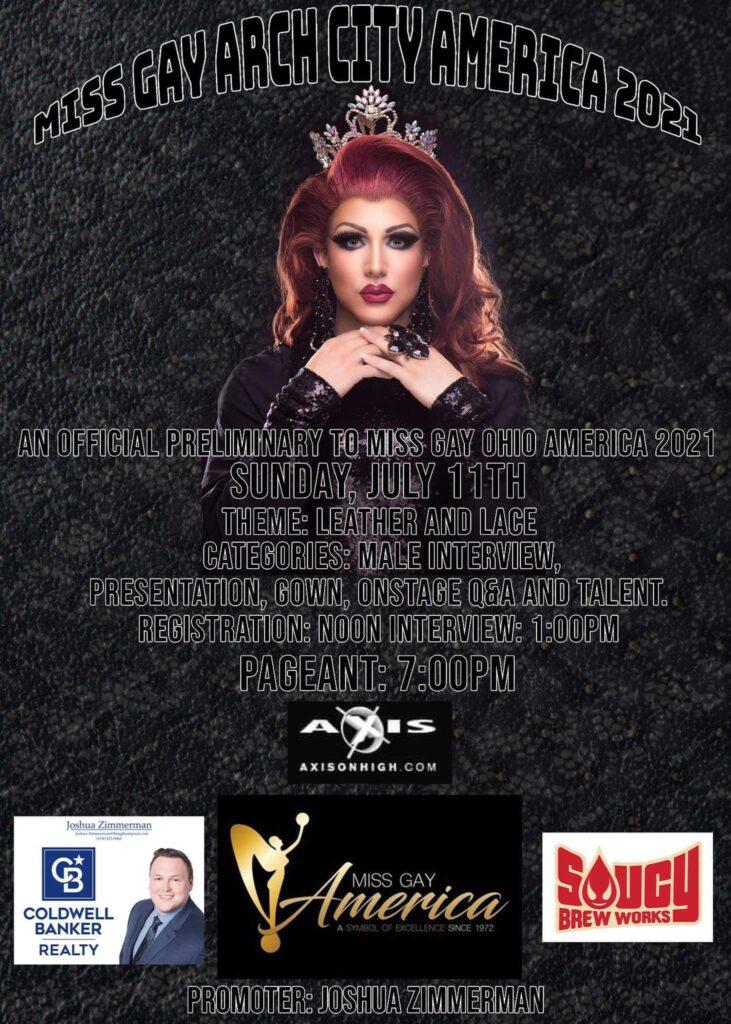 Ad | Miss Gay Arch City America | Axis Nightclub (Columbus, Ohio) | 7/11/2021
