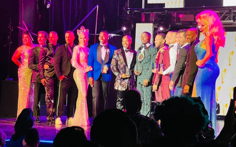 Christopher Iman (Center) after winning at Mr. Gay America | The Mosaic on the Strip (Las Vegas, Nevada) | 8/16-8/18/2021