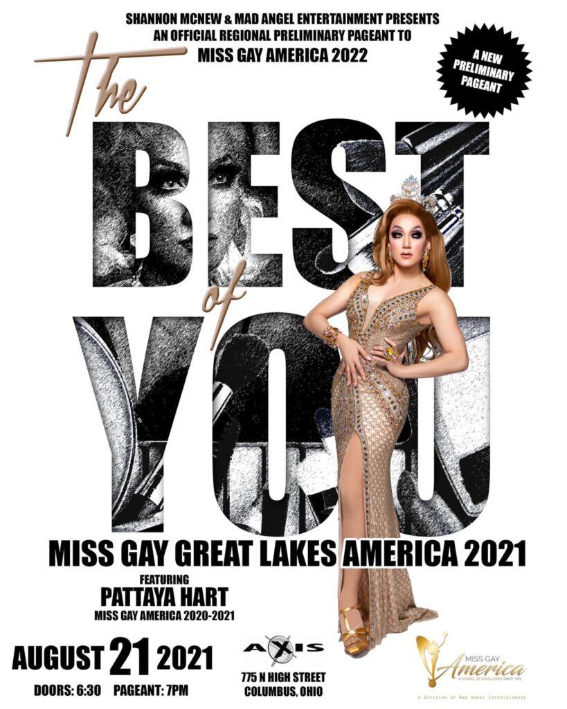 Ad | Miss Gay Great Lakes America | Axis Nightclub (Columbus, Ohio) | 8/21/2021